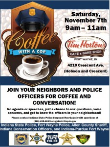 Tim Hortons Coffee with a Cop